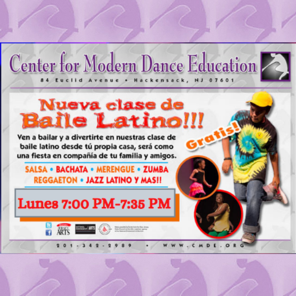 Latin fusion class, free every Monday at 7:00 PM EST, Register Today